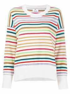 Allude striped print jumper - NEUTRALS