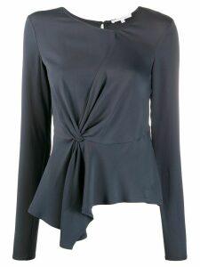 Patrizia Pepe knot detail blouse - Grey
