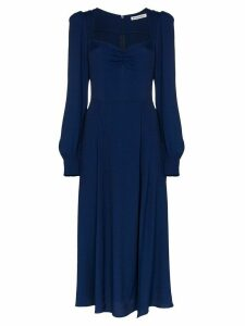 Reformation Wallflower ruched midi dress - Blue