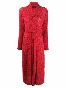 Alanui Color Waves kimono cardigan - Red