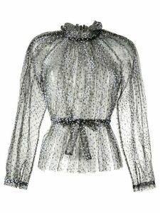 Rachel Comey sheer dotted print blouse - Black