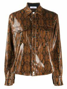 Roseanna Wilson python print shirt - Brown