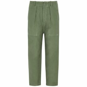 Citizens Of Humanity Harrison Army Green Cotton Trousers