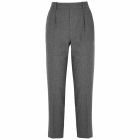 Vince Grey Cropped Flannel Trousers