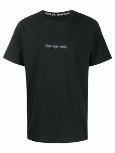 F.A.M.T. 'One night only' print T-shirt - Black