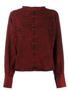 Rachel Comey distressed style back buttoned blouse - Red