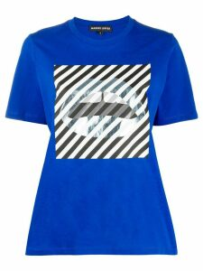 Markus Lupfer lips graphic T-shirt - Blue
