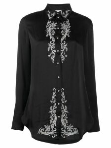 Paco Rabanne embroidered floral shirt - Black