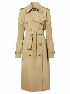 Burberry panelled-sleeve oversized trench coat - NEUTRALS