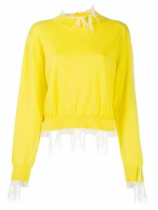 Aalto distressed details jumper - Yellow