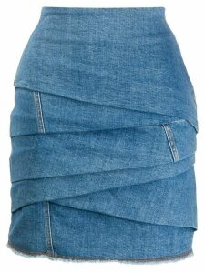 Philosophy Di Lorenzo Serafini draped denim skirt - Blue