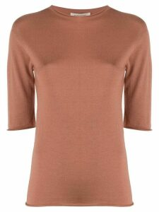 Boon The Shop fine knit half sleeve jumper - Brown