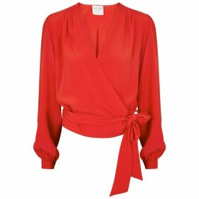 Forte forte Red Wrap Blouse