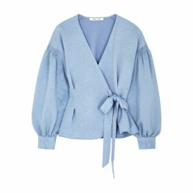 Samsøe & Samsøe Merril Light Blue Wrap Blouse
