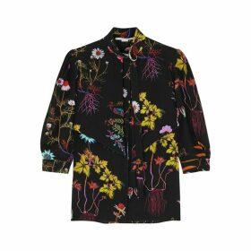 Stella McCartney Stefanie Floral-print Silk Shirt