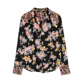 Free People Hold On To Me Floral-print Panelled Shirt