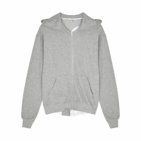 Clu Grey Satin-trimmed Cotton Sweatshirt