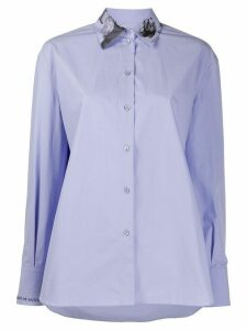 Valentino Undercover print long-sleeved shirt - PURPLE