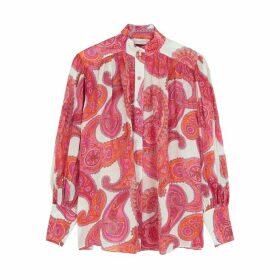 Zimmermann Peggy Paisley-print Ramie Shirt
