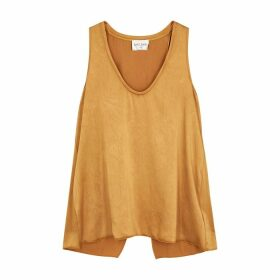 Forte forte Gold Crinkled Satin Top