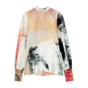 Roksanda Cala Printed Silk Blouse