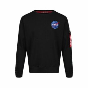 Alpha Industries Nasa Tape Sweater Ns Black