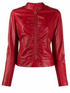 LIU JO faux-leather fitted jacket - Red