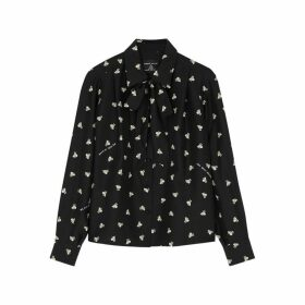 Marc Jacobs X Magda Archer Printed Silk Shirt