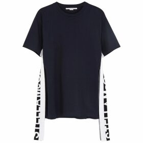 Stella McCartney Navy Logo Cotton T-shirt