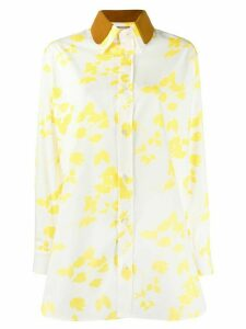 Plan C leaf print shirt - White
