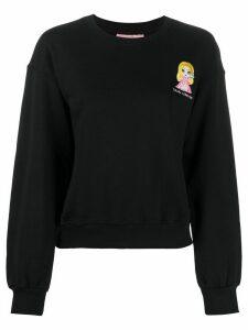 Chiara Ferragni embroidered logo jumper - Black