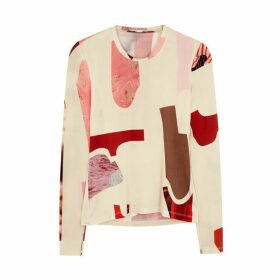 LOROD Printed Stretch-jersey Top