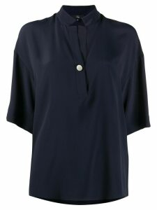 Fay loose fit short sleeve shirt - Blue