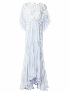 Romance Was Born Louis striped tiered gown - Blue