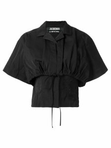 Jacquemus layered cropped shirt - Black