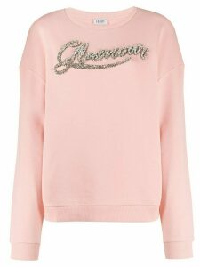 LIU JO Glamour embroidered sweatshirt - PINK