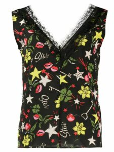 LIU JO Star all-over print blouse - Black