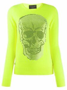 Philipp Plein rhinestone skull jumper - Yellow