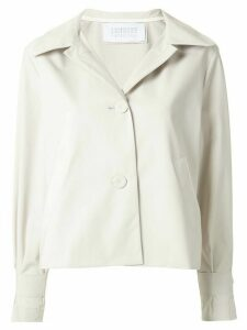 Harris Wharf London cropped A-line jacket - White