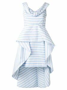 Leal Daccarett Anetta striped structured peplum dress - Blue
