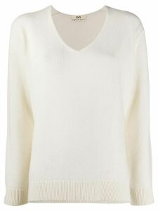 Sminfinity v-neck jumper - White