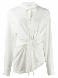 P.A.R.O.S.H. pointed collar tie-waist shirt - White