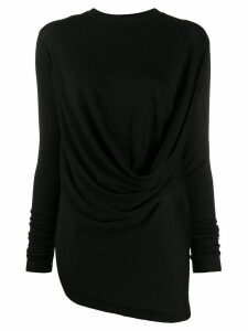 Rick Owens draped knit jumper - Black