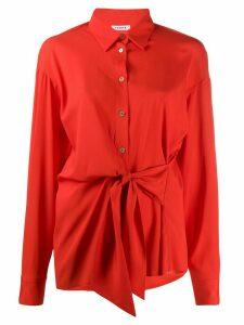 P.A.R.O.S.H. pointed collar tie-waist shirt - Red