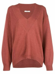 Tibi V-neck jumper - Red