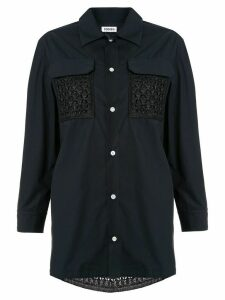 Coohem crochet pocket shirt - Blue