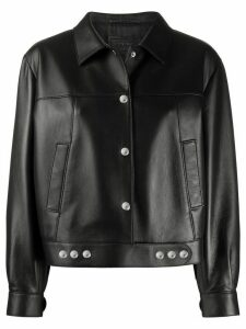 Prada snap-detailed bomber jacket - Black