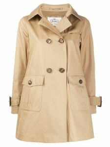 Herno patch-pocket trench coat - NEUTRALS