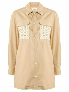Coohem crochet pocket shirt - Brown