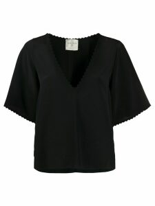 Forte Forte embroidered-trim blouse - Black
